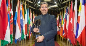 Uday Kotak: crowned EY World Entrepreneur of the Year in Monaco's Salle des Etoiles.