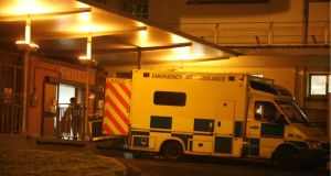 In April, ambulance crews waited an average 35 minutes to hand over patients  at  Limerick Regional. Photograph: Dara Mac Dónaill / THE IRISH TIMES