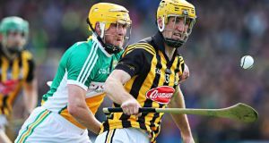 Kilkenny's Colin Fennelly and James Rigney of Offaly. Photograph: Inpho