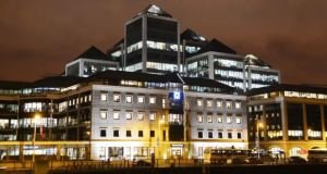 Ulster Bank's headquarters in Dublin: the bank's construction purchasing managers' index, which is designed to track changes in activity posted 60.2 in May. Photograph: Alan Betson/Irish Times