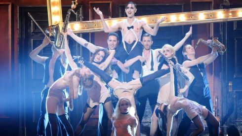 "Alan Cumming and the cast of ""Cabaret"" perform onstage during theTony Awards. Photograph: Theo Wargo/Getty Images"