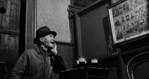 Detail from a photograph of an old man in Barney Kiernan's pub, Dublin, 1946. Photographs: Lee Miller Archives, leemiller.co.uk; Roland Penrose Estate, The Penrose Collection