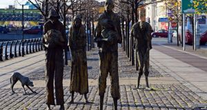 'This is the background against which most church building by our major Christian denomination took place in Ireland, one of famine, destitution and deepest privation.' Above, a Famine memorial in Dublin. Photograph: Eric Luke / THE IRISH TIMES