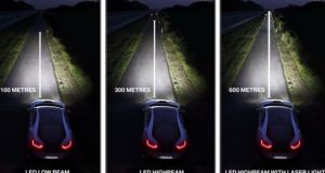 BMW's laser light provides up to 600 metres of clear white light