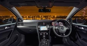 The interior of the 2014 Golf. Photograph: Richard Pardon