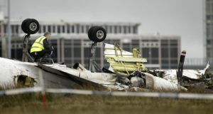 The scene at Cork Airport after six people died on February 10th, 2011. Photograph: Niall Carson/PA Wire