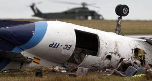 The wreckage of the Fairchild SA227-BC Metro craft  after the crash on February 10th, 2011. Photograph: Cathal McNaughton/Reuters