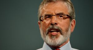 'It may well be that Gerry Adams came to the view that violent nationalism was a virus that needed to be isolated and killed before it infected coming generations, and that this in part explains his role in guiding the republican movement towards peaceful means while striving to prevent a catastrophic split.' Photograph: Alan Betson / THE IRISH TIMES