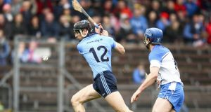 All Star Danny Sutcliffe (left) will be a major loss for Dublin hurlers when they travel to Wexford Park  for their Leinster SHC opener on Saturday evening. Photograph:  Ken Sutton/Inpho