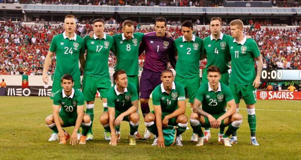 bb1f8348b3f28 The Republic of Ireland team ahead of the international friendly against  Portugal at the MetLife Stadium
