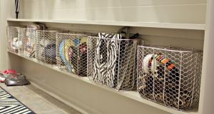 Hallway storage can help clear clutter