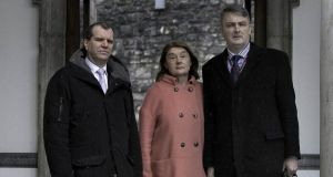 GSOC commissioners (from left) Kieran Fitzgerald, Carmel Foley and Simon O'Brien. Photograph: Brenda Fitzsimons/The Irish Times