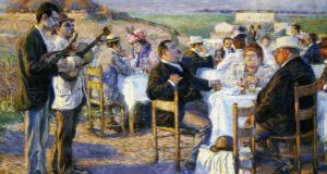 Dining Out: Fat and Thin, painted by Enrico della Leonessa in 1899. Photograph: Italian National Gallery of Modern Art/Deagostini/Getty