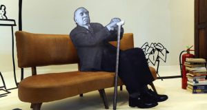 On display: a cutout of Jorge Luis Borges at a book fair in Buenos Aires. Photograph: Daniel Garcia/AFP/Getty