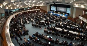"The UN climate convention in Bonn was told world leaders will need to show ""real political commitment"" if an international treaty to tackle global warming is to be concluded before the end of next year. Photograph EPA/Matthias Balk"