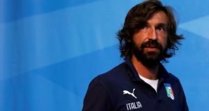 Midfield playmaker  Andrea Pirlo l arrives for a news conference at the Casa Azzurri in Mangaratiba ahead of Italy's World Cup opening game against England on Saturday. Alessandro Garofalo/Reuters