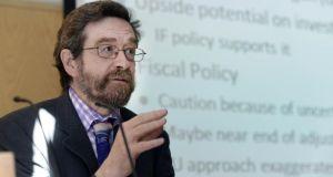 "Prof John FitzGerald of the ESRI: said the Government would be best advised to plan for a €2 billion adjustment ""and hope for a pleasant surprise come September"". Photograph: Brenda Fitzsimons"