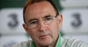 Republic of Ireland manager Martin O'Neill, who had talks with Aston Villa boss Paul Lambert concerning Roy Keane.