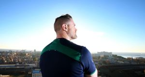 Jamie Heaslip enjoys the Buenos Aires skyline during Ireland's tour of Argentina.