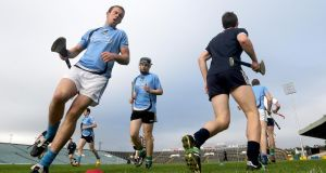 Training time for the Limerick hurlers at the Gaelic Grounds. Críonna Tobin's fascinarting presentation to the  GAA's Games Development Conference at Croke Park appeared to prove that high intensity training produces better core fitness results than the more traditional endurance running. Photograph:  James Crombie/Inpho