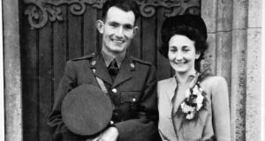 Ned and Eileen Cusack (nee Geoghegan) on their wedding day in 1944