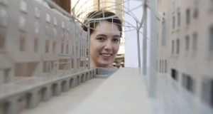 Marian Dineen,  a fifth year architecture student at UL whose thesis is based on roofing parts of Henry Street, Limerick