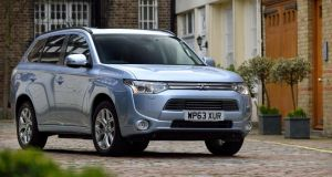 The Mitsubishi Outlander plug-in hybrid electric vehicle (PHEV)