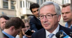 'Supporters of Spitzenkandidaten argue that the elections have happened, the people of Europe have chosen Jean-Claude Juncker as Commission President and that it would be undemocratic for elected national leaders to choose anyone else.'   Photograph: Thierry Monasse/EPA