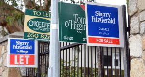 On a monthly basis, private rents were 0.4 per cent higher in May, while average general inflation was flat. Local authority rents were up 4.1 per cent annually in May and unchanged month on month. Photograph: Cyril Byrne