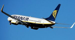 Ryanair and Aer Lingus were dragged down in a sector-wide slide in airline stock linked to Germany's Lufthansa lowering of its profit forecast earlier in the week.