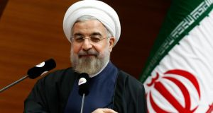 "Iranian president Hassan Rouhani said the Islamic Republic ""will not tolerate this violence and terrorism . . . we will fight and battle violence and extremism and terrorism in the region and the world"". Photograph: Umit Bektas/Reuters"