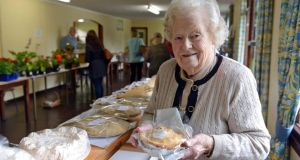 Doreen Orr at her cake and tart stall at Kilternan Country Market. Photograph: Eric Luke