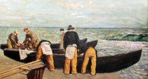 Unload the Catch by Seán Keating, sold for €52,000, at de Veres