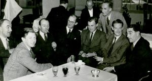 Alan Bestic (second from left) with a group of journalistic colleagues. Photograph: Irish Times