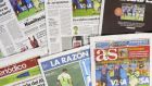 Headlines such as 'Humiliation', 'Fix this' or 'Total write-off' are splashed across the front pages in Spain. Photograph: EPA