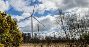 Tours of  the Greenoge Wind Farm in Co Carlow and  Rahora Wind Farm in Tullogher, Co Kilkenny will take place over the weekend. Photograph: Brenda Fitzsimons/The Irish Times