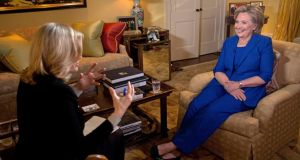 "Hillary Clinton interviewed by Diane Sawyer on ABC: ""When you're in the spotlight as a woman, you know you're being judged constantly."" Photograph: Reuters/Martin H Simon/ABC"