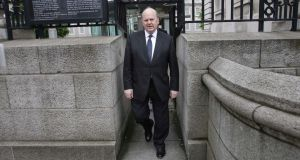 "Minister for Finance Michael Noonan: ""Of the projected 2014 general Government interest bill of just under €8 billion, my department estimates that circa €1.6 billion relates to rescue operations in the context of the financial crisis."" Photograph: Stephen Collins/Collins Photos"