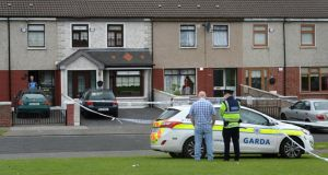 Croftwood Gardens, Ballyfermot, Dublin, where a six-year-old boy was shot on Friday. Photograph: Dara Mac Dónaill.