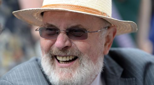 Sen David Norris enjoying the Bloomsday celebrations on Nth Great Georges Street, Dublin on Sunday. Photograph: Dara Mac Donaill / The Irish Times