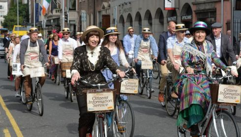 Cyclists taking part in the Brennans Bloomsday Bike Rally for the Irish Youth Foundation.  Photograph: Alan Betson / The Irish Times