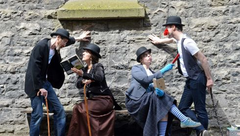 Members of the theatre group At it Again, at the launch of The James Joyce Centre's Bloomsday Festival. Photograph:  Eric Luke  /  The Irish Times