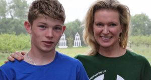 Celebrity chef Rachel Allen and her son Joshua (14), who are  visiting India with aid agency Goal