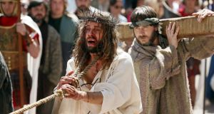 Passion play: a Good Friday performance in northern Spain last Easter: Manuel Rivas describes such a scene in a fine set piece. Photograph: Cesar Manso/AFP