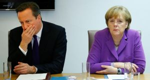 'The key question is whether both David Cameron and Angela Merkel have backed themselves into a political corner. Both risk losing political face if their preferred outcome is not achieved.'  Photograph: Yves Herman/AP