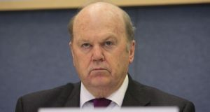 "Minister for Finance Michael Noonan, who defended the Government's handling of the inquiry. Speaking in Limerick, he said: ""Fianna Fáil pulled a stroke because Labour Senators were absent and fair dues to them. The stroke is now being reversed.""  Photograph: Gareth Chaney/Collins"