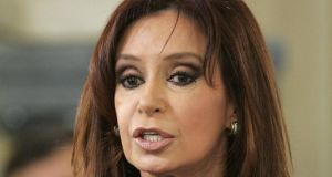 Argentinian president Cristina Fernandez de Kirchner ruled out complying with a US court order to pay holders of defaulted bonds in full. Photograph: Marcos Brindicci/Reuters