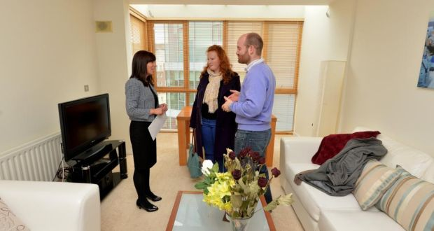 Rental Negotiator Angela Mccabe With Prospective Renters Husband And Wife Guillaume Blanche De Montalivet View