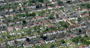 Suburban housing and streets are seen from the air. Photograph:  Matt Cardy/Getty Images)