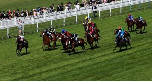 Sole Power ridden by Richard Hughes stretches away from the field to win the King's Stand Stakes during day one of Royal Ascot. Photograph: David Davies/PA